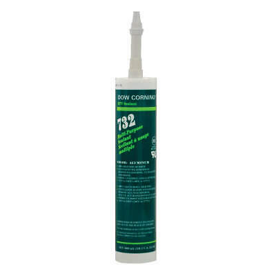 DOW CORNING Sealant,Silicone Base,Gray,Cartridge, 1891987, Aluminum Gray