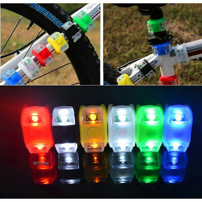 Sport Bicycle Bike Cycling LED Silicone Front Rear Head Wheel Safety Light Lamp