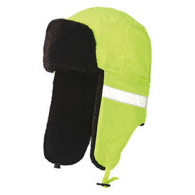 TOUGH DUCK Polyester Hi-Vis Hat,Yellow,23 in., I15516-L-FLGR, Yellow