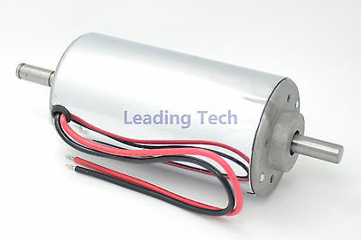 400W DC Spindle Motor 52mm with Permanent Magnet Brush & Chrome Surface 12-48VDC