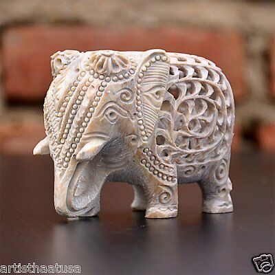 Artist Haat Hand Crafted Elephant Sculpture Wealth Animals Figurine Home Decor