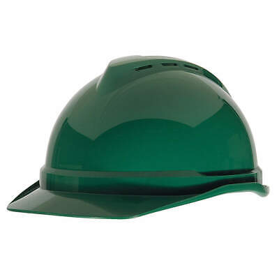 MSA Hard Hat,C,Green,4 pt. Ratchet, 10034023, Green