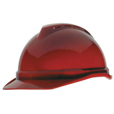 MSA Hard Hat,C,Red,4 pt. Ratchet, 10034022, Red