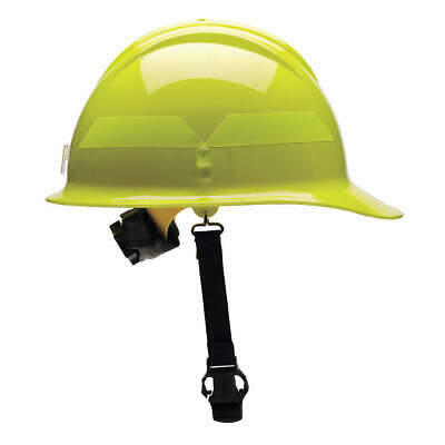 BULLARD Fire Helmet,Lime-Yellow,Thermoplastic, FCLYR, Lime-Yellow