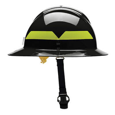 BULLARD Fire Helmet,Black,Thermoplastic, FHBKP, Black
