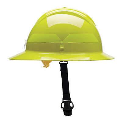 BULLARD Fire Helmet,Lime-Yellow,Thermoplastic, FHLYP, Lime-Yellow