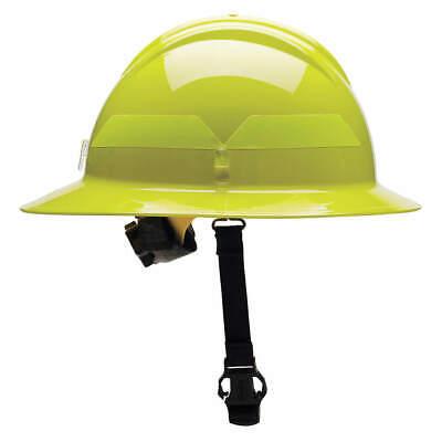 BULLARD Fire Helmet,Lime-Yellow,Thermoplastic, FHLYR, Lime-Yellow