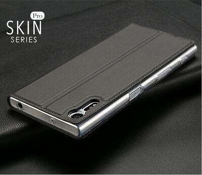 For Sony Xperia XZ Luxury Slim Leather Flip Wallet Magnetic Case Cover