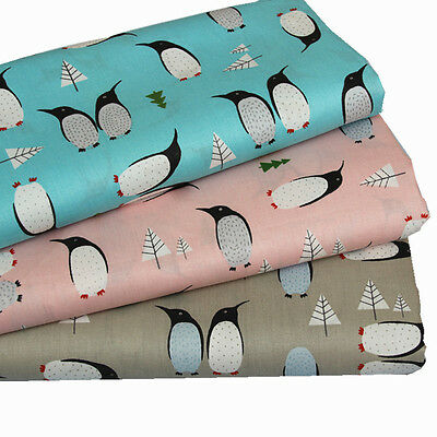 One PCS Cotton Fabric Pre-Cut Cotton cloth Fabric for Sewing Antarctic Penguins