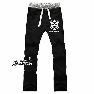 Manga For One Piece Black Men Daily Exercise Pants Cosplay Drawstring Trousers