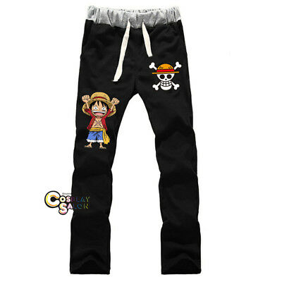 Manga For One Piece Cartoon Unisex Casual Pants Cosplay Drawstring Trousers Mode