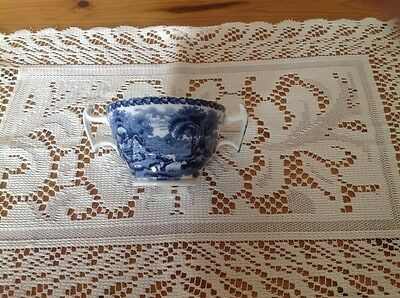 Booths British scenery two handled cup (blue and white)
