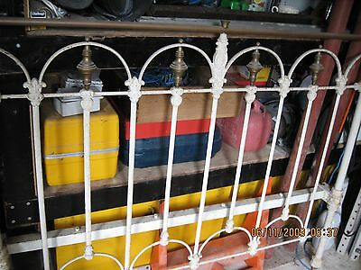 victorian cast iron bed frame