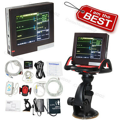 ICU Patient Monitor Vital Signs Monitor ECG NIBP SPO2 PR 4 Parameters SD Card