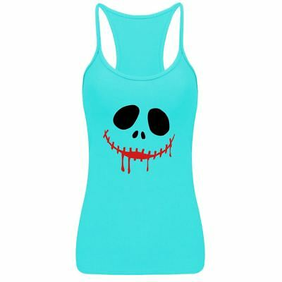 Womens Ladies Scream Face T-shirt Horror Halloween Dress Party Vest Top Tee Lot