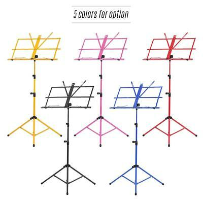 Folding Sheet Music Tripod Stand Holder Adjustable Heavy Duty with Bag X1I0