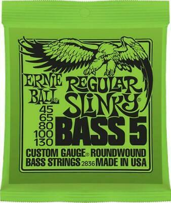 Ernie Ball 2836 Regular Slinky 5-String Nickel Wound  Bass Strings 45-130