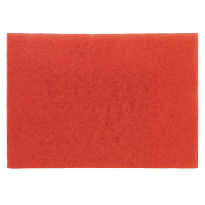 3M Non-Woven Polyester Fiber Buffing Pad,28 In x 14 In,Red,PK10, 5100-28x14, Red