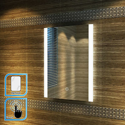 700x500/800x600mm Bathroom LED Illuminated Mirror Touch Switch Wall mounted