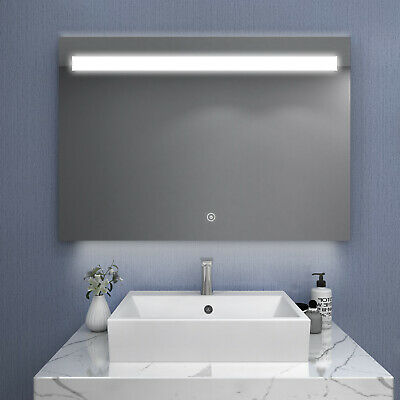 1000x700mm Bathroom LED Mirror Touch Switch Wall mounted Anti Fogging