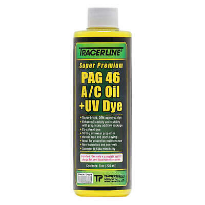 TRACERLINE PAG Lubricant/Dye,Fluorescent A/C,46Visc, TD46P8, Green