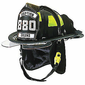 CAIRNS Fire Helmet,Black,Traditional, C-TRD-5152A3220, Black