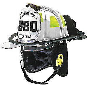 CAIRNS Fire Helmet,White,Traditional, C-TRD-5452A3220, White