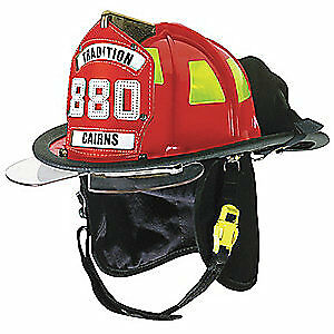 CAIRNS Fire Helmet,Red,Traditional, C-TRD-5252A3220, Red