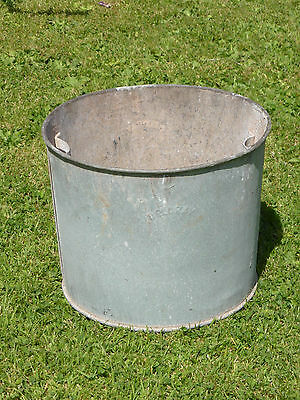 Vintage Galvanized Container with Holes Drill in Bottom.  Ideal Garden Feature.