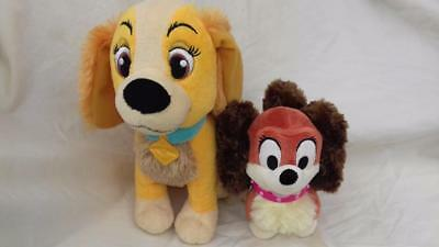 "2x Lady from Lady and the Tramp Tallest 9"" Disney Store  gee"