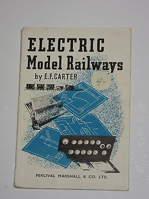 Electric Model Railways by Ernest f Carter