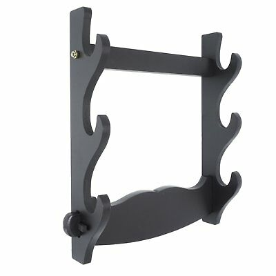 Sword Holder Wall Mount Samurai Sword Display Hanger Bracket for Wakizashi Tanto