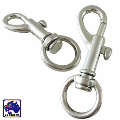 10pcs Lobster Clasp Swivel Trigger Clip Hook Snap Key Ring CKBU60933x10
