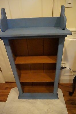 Shabby Blue Bookcase Wooden