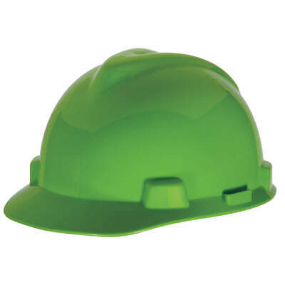 MSA Hard Hat,C, E,Lime Green,4 pt. Ratchet, 815565, Lime Green