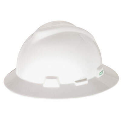 MSA Hard Hat,C, E,White,4 pt. Ratchet, 475369, White