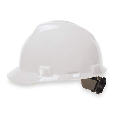 MSA Hard Hat,C, E,White,4 pt. Ratchet, 475358, White