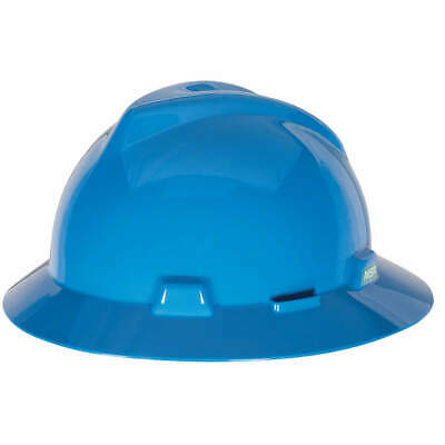 MSA Hard Hat,C, E,Blue,4 pt. Ratchet, 475368, Blue