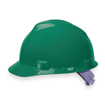 MSA Hard Hat,C, E,Green,4 pt. Pinlock, 463946, Green