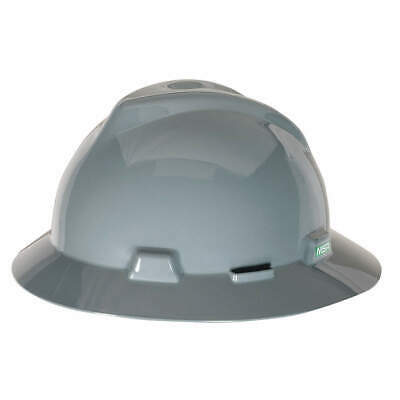 MSA Hard Hat,C, E,Gray,4 pt. Ratchet, 475367, Gray