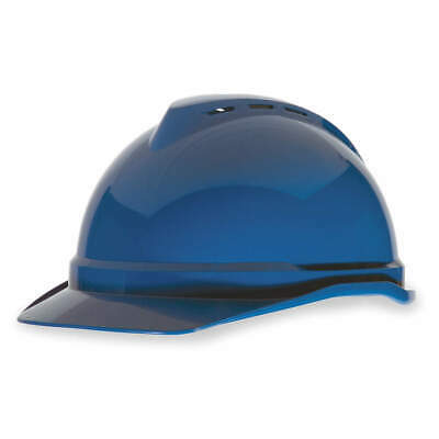 MSA Hard Hat,C,Blue,4 pt. Ratchet, 10034019, Blue