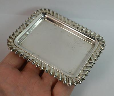 Sweet Sterling Silver Pin Tray or Dish with Gadrooned Edge