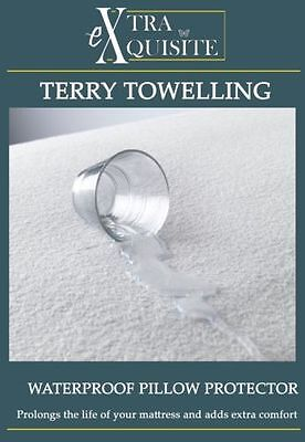 Waterproof Terry Towel Mattress Protector Fitted Sheet All Sizes Extra Absorbent