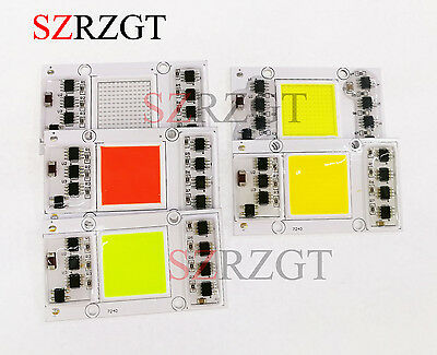 50W 220V AC High Power led chip built-in driver Red Green Blue White Warm whie