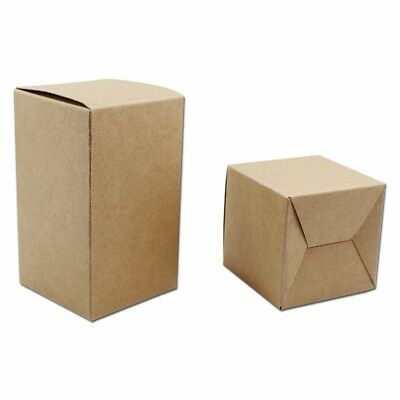Brown Kraft Paper Box Foldable Recyclable Gift Wedding Party Favor Packing Boxes