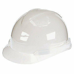 MSA Hard Hat,C, E,White,4 pt. Ratchet, 804940, White