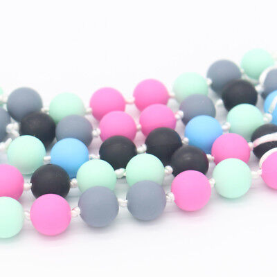 20pcs/Set Safety BPA-Free Silicone Baby Teether Mom DIY Necklace Bracelet Beads