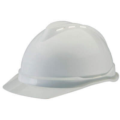 MSA Hard Hat,C,White,4 pt. Ratchet, 10034018, White