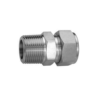 HAM-LET Male Connector,SS,1/2in.,Connectors, 768L   SS 1/2 X 1/4