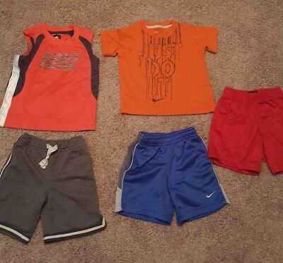 toddler boy 3T summer clothes Nike and Carter brand lot of 5